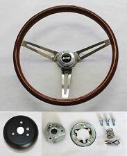 "1976-1995 Jeep CJ YJ Wrangler Wood Steering Wheel High Gloss Grip Finish 15"""