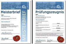Meisterbrief Prüfungszeugnis Diplom Zeugnis Meisterdiplom Meistertitel - UK-328