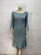 AA78 Paddy Campbell Wool Crepe Dress Green Size 8 10 BNWT RRP £249.95