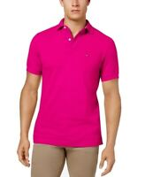 Tommy Hilfiger Mens Shirt Pink Size 2XL Classic Fit Ivy Polo Rugby $49 #391