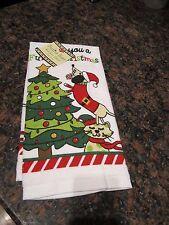 DACHSHUND Holiday Christmas Kitchen Dish Towel RITZ - NWT Weiner Dog