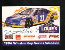 Brett Bodine--1996 Winston Cup Pocket Schedule--Lowe's