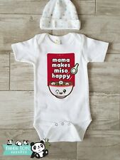 Funny Asian Baby Onesies - Mama, MISO happy - Baby Shower Gift Pregnancy