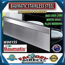 NEW!! 60cm BAUMATIC Stainless Steel Warming Drawer Oven Plate Warmer WD01SS