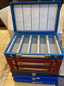 3 Vintage 150 capacity, 3 x 200 capacity Jessopps 35mm Slide Storage Box