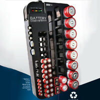 72 Battery Storage Organizer With Removable Tester AAA AA D C Holder Box Case