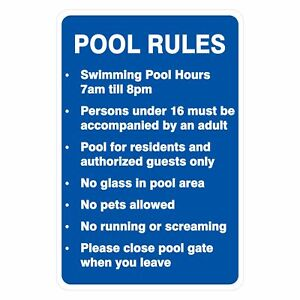 Pool Safety Signs -  POOL RULES v2