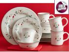 Set Dinnerware 16 Pcs Dishes Plate Bowl Vintage Classic Winterberry Holiday New