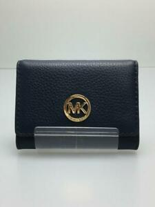Michael Kors  Leather  Leather NAVY Fashion Card case 438 From Japan