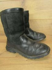 Authentic UGG 5381 Black Leather Brooks Womens Boots Size 7