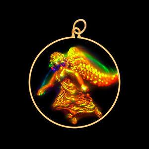 9ct Gold Hologram Pendant - Angel (Medium) - No Chain