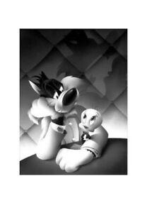 Looney Tunes Portrait Series Sylvester +Tweety Canvas Signed by Bodner+Sabin