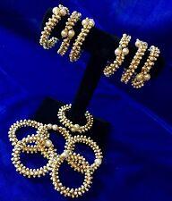 5* Golden Pearl Mehndi Gajra Bangle Maiyo Kalira Gana-Indian Wedding Accessory