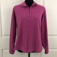 Columbia XCO Womens Size Large Pink Pull Over Fleece Sweater