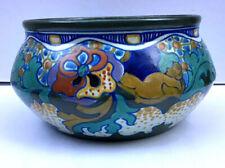 Antique 1923 Gouda Art Deco Pottery Cabinet Vase Bowl Compote