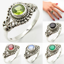 Handmade Ring ! 925 Solid Silver Natural Peridot Jewelry ! Womens Fashion Gift