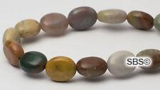 Fancy Jasper 8x10mm Flat Oval Stone Beads (approx. 16 inch strand