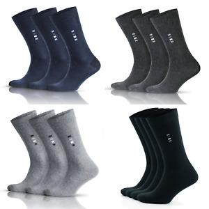 Mens Socks 6 pairs high quality black grey brown cotton socks size 6-8 9-12