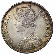 Key Date British India 1897-C Queen Victoria Silver One Rupee KM#492