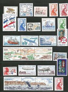 Nice lot -MNH St. Pierre and Miquelon 1986-1989 inc 1989 Souvenir sheet