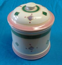 Vintage Caleca Italian Hand Painted BELVIDERE Covered Pot