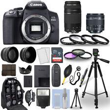Cámara SLR Canon EOS 850D/Rebel D + 18-55mm STM T8i + 70-300mm + Paquete de 30 piezas
