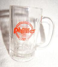 Philadelphia Phillies clear beer mug - 1980s logo