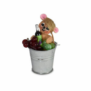 Annalee Dolls 2021 3in Wine Bucket Mouse Plush New with Tag