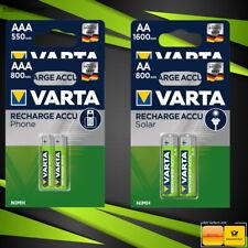 Akku Varta Phone - Solar Akku Accu Batterien AA  AAA Mignon Micro 550 - 1600 mAh