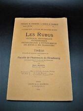 MASSOL Les Rubus Ronces Framboisiers RARE EO BOTANIQUE PHARMACIE CUISINE 1940