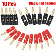 10pc 4mm lot Gold Plated Audio Speaker Wire Cable Banana Plug Connector Adapter