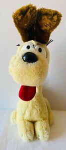 ODIE Garfield Large Dog Plush Soft Stuffed Toy Doll VINTAGE Fun Farm 1983 38cm