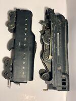 LIONEL POSTWAR 1688 STEAM LOCOMOTIVE ENGINE LIONEL LINES 2046W TENDER TRAIN 1950