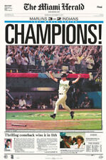 POSTER: MLB BASEBALL : FLORIDA MARLINS -1997 WORLD SERIES FREE SHIP #1003 RP61 E