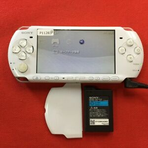 P11283 Sony PSP-3000 console Pearl White Handheld system Japan w/Battery