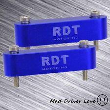 2x HOOD SPACER RISER 88-00 CIVIC EG EK EF 88-91 CRX 94-01 ACURA INTEGRA BLUE