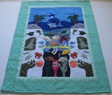 Hawaiian quilt baby blanket  wall hanging hand quilted/machine appliquéd MINT