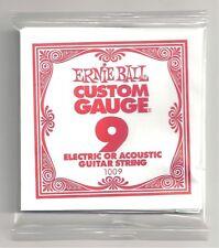 6 Confezioni Ernie Ball Custom Gauge 9 s Chitarra Singolo Cordoncini Elettrica/