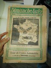 """TOUR DE FRANCE  AUTOMOBILE 1926 numero spécial """" DIMANCHE AUTO """" MAI 1926"""