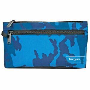 Targus Camouflage Combat Army Pen Pencil Case School College Zipper Pouch Blue