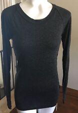 Diesel Womens T-Kunda Tank Top Black Open Back Long Sleeve XS Black
