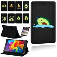 Avocado Printed Smart Stand Case cover For Samsung Galaxy Tab 3 / 4 Tablet + Pen