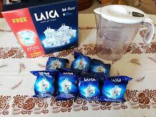 Caraffa Filtrante Acqua Laica J996 + 7 Filtri Kit Cartucce Bi-Flux in Plastica