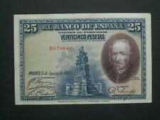 **Decent Scarce 1928 25 Espana 'GVF' Banknote**