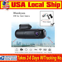 Blueskysea B1W Car Dash Camera Vehicle DVR WIFI 1080p & Hardwire Power Adapter