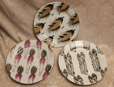 FRESH CHOICE SET 3 ACCENT HAND-PAINTED Decorative Vegetable Dinner Plates
