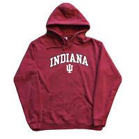 VTG 90s Indiana University Hoodie Mens Medium Hoosiers NCAA Red Pullover College