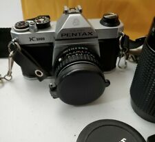 Pentax K1000 35mm Slr Camera Kit w/ 50mm Lens - Very Good- Other Parts Included!