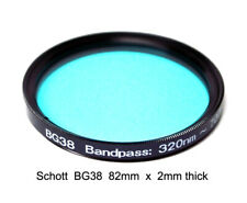 "Schott BG38 82mm x 2mm UV/IR-Cut Filter Visual Bandpass IR Suppress ""Hot Mirror"""