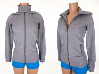 LULULEMON 4 Heathered Medium Gray Stride Jacket Hooded Rare